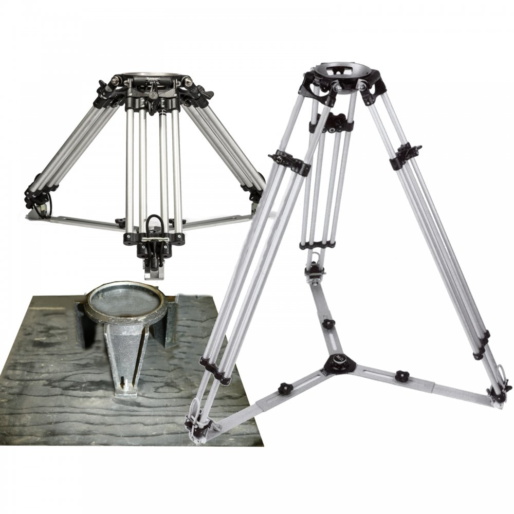 Tripods set 150mm Hi-Hat; Ronford Baker Heavy Duty Medium and Long